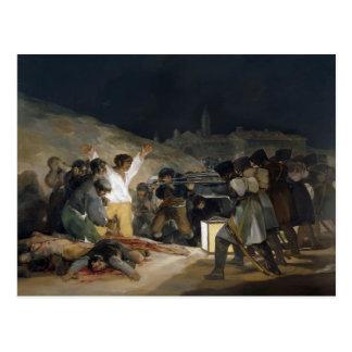Goya-Execução de Francisco dos defensores de Madri Cartao Postal