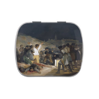 Goya-Execução de Francisco dos defensores de Madri Latinhas De Menta