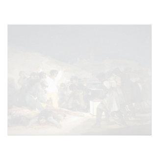 Goya-Execução de Francisco dos defensores de Madri Papel De Carta Personalizados