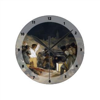 Goya-Execução de Francisco dos defensores de Madri Relógios Para Paredes