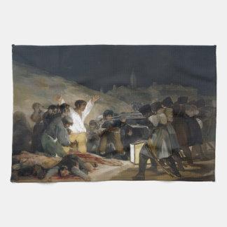 Goya-Execução de Francisco dos defensores de Madri Toalhas De Mão