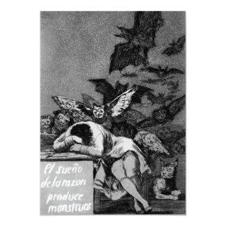 Goya o sono da razão produz monstro convites personalizados