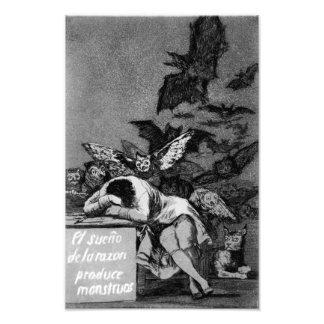 Goya o sono da razão produz o impressão dos monstr artes de fotos