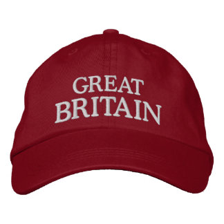 Grâ Bretanha bordou o chapéu Boné Bordado