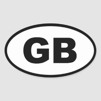 Grâ Bretanha - europeu Adesivo Oval
