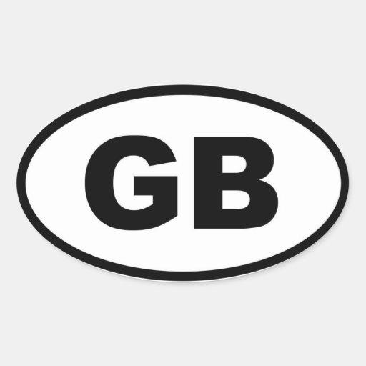 Grâ Bretanha - europeu Adesivos Em Formato Ovais