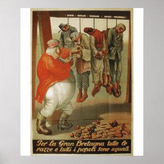 Grâ Bretanha todo o poster da propaganda das raças Pôster