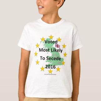 Grâ Bretanha votou muito provavelmente para secede Camiseta