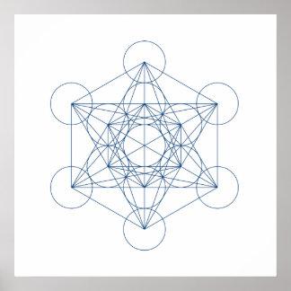 Grade de cristal - o cubo de Metatron Posters