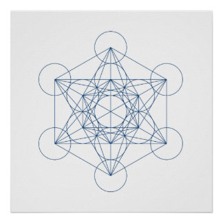 Grade de cristal - o cubo de Metatron Poster