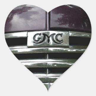 Grade do caminhão de GMC do vintage Adesivo Coração