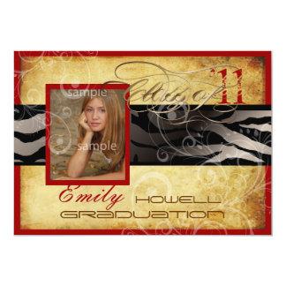 Graduação 2012 de PixDezines/vintage/zebra/cor diy Convites Personalizado