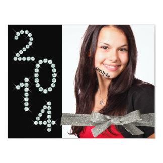 Graduação 2014 da foto da fita do brilho de Bling Convite 10.79 X 13.97cm