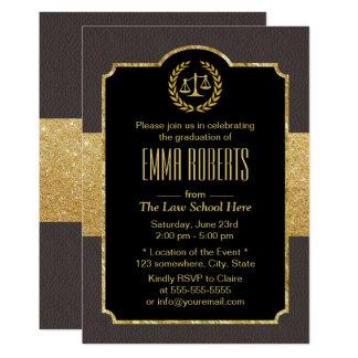 Graduação advogado elegante de Brown da escola de Convite 12.7 X 17.78cm