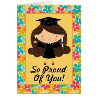 Graduação bonito cartão personalizado dos parabéns