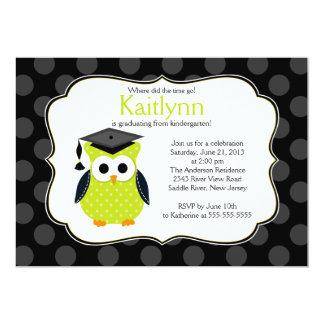 Graduação bonito da menina da coruja do formando convites personalizados