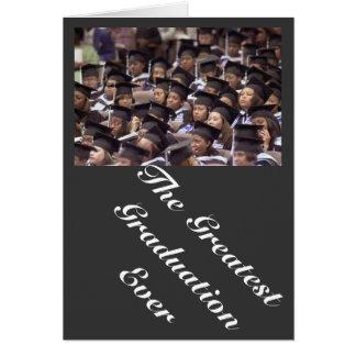 graduação cartão comemorativo
