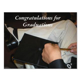 Graduação Convite 10.79 X 13.97cm