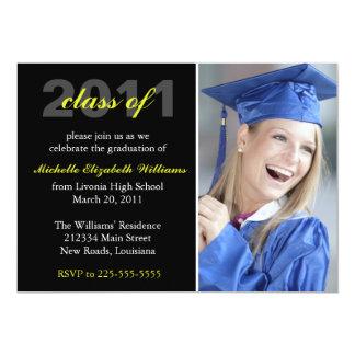 Graduação Convite 12.7 X 17.78cm