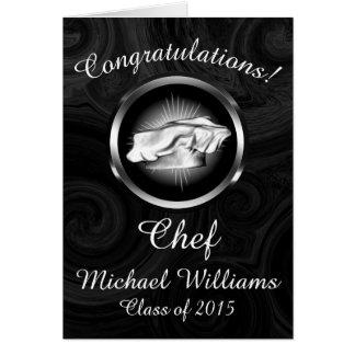 Graduação culinária da escola personalizada cartão comemorativo