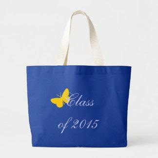 Graduação customizável - borboleta do azul e do bolsa de lona