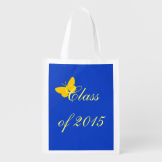 Graduação customizável - borboleta do azul e do ou sacolas reusáveis