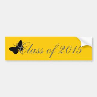 Graduação customizável - preto e borboleta do ouro adesivo para carro