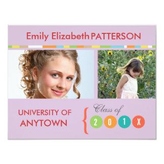 Graduação da bandeira da foto convites personalizados