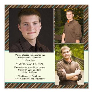 Graduação da escola da casa de Brown e de foto da Convites Personalizado