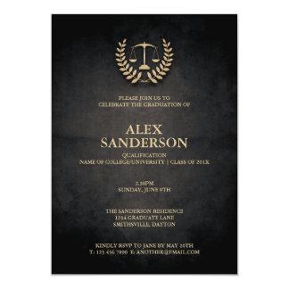 Graduação da escola de direito com grinalda & convite