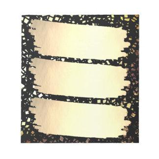 Graduação do formando da lista do olhar da folha bloco de anotação