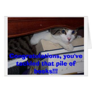 Graduação do gatinho cartão comemorativo