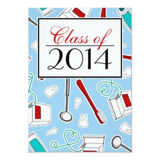 Graduação do higienista dental/escola dental - convite 12.7 x 17.78cm