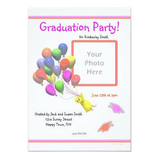 Graduação do pintinho e da foto do jardim de convite personalizados
