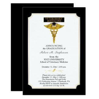 Graduação do veterinário da medicina veterinária convite 12.7 x 17.78cm