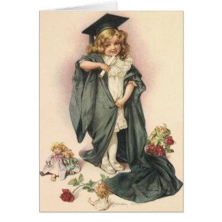 Graduação do vintage, classe dos parabéns de 2012 cartão de nota