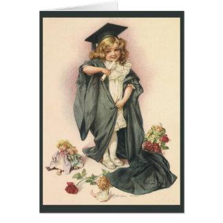 Graduação do vintage, classe dos parabéns de 2012 cartão comemorativo
