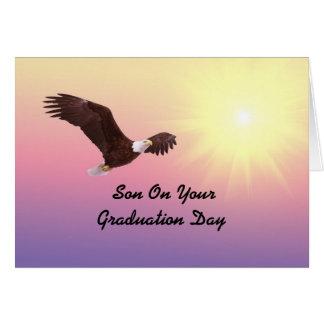 Graduação Eagle do filho Cartão Comemorativo