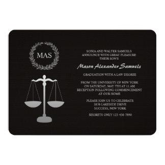 Graduação Inv da escola de direito da escala & da Convites Personalizado