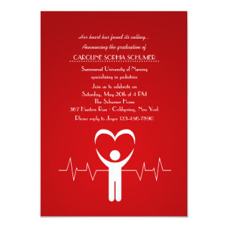 Graduação Loving Inv da escola de cuidados das Convite 12.7 X 17.78cm