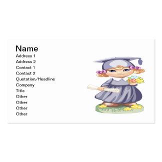 Graduação pré-escolar cartão de visita