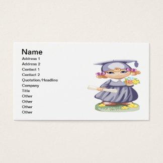 Graduação pré-escolar cartão de visitas