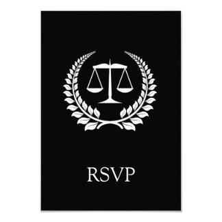 Graduação preta/branca da escola de direito do convites personalizados