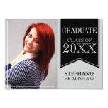 Graduação preta da foto de cores da escola da fita convite 12.7 x 17.78cm