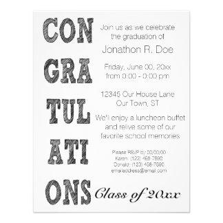 Graduação simples convite personalizados