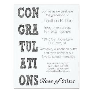 Graduação simples convite 10.79 x 13.97cm