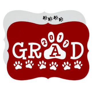 Graduação vermelha das patas dos convites do
