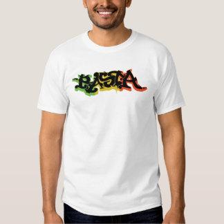 Graf Rasta Camisa com cores e preto da reggae Camisetas
