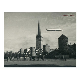 Graf Zepelim em Tallinn Cartão Postal