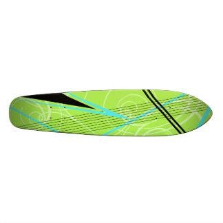 Gráfico azul e verde shape de skate 19,7cm